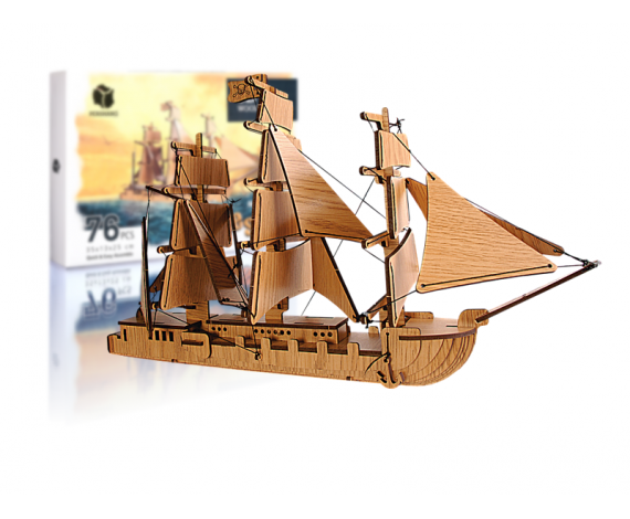 PERSHANG 3D PIRATE SHIP - YELKENLİ GEMİ 35*13*25CM 76 PCS